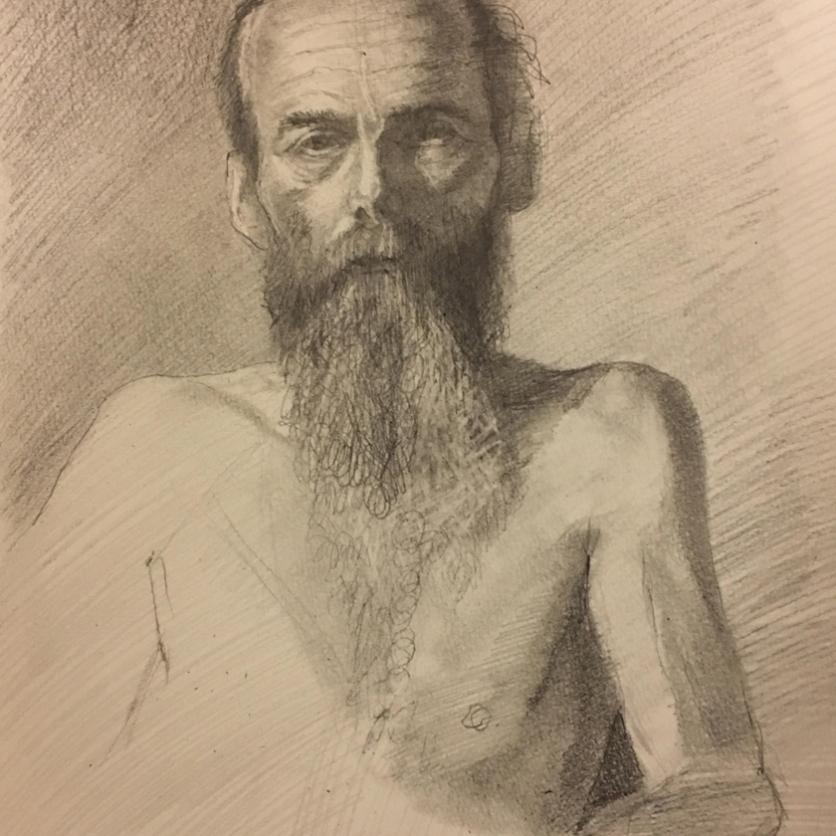 nude beard man